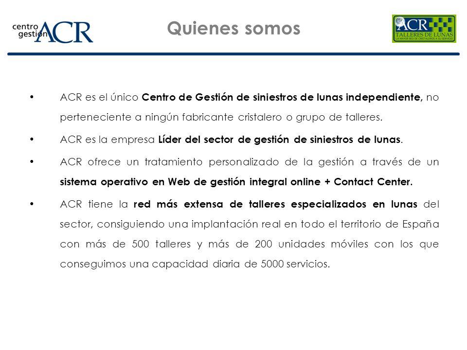 Cobertura total Con nuestra Red cubrimos la totalidad del territorio de España: RED BÁSICA ACR: Red integrada por 601 talleres, asociados exclusivamente a ACR.