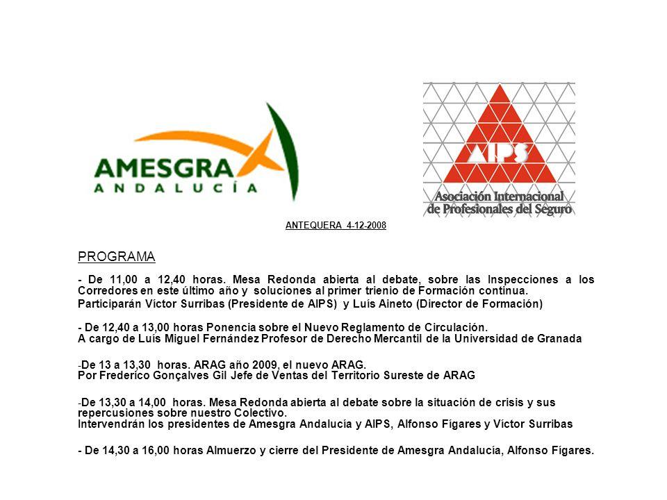 ANTEQUERA 4-12-2008 PROGRAMA - De 11,00 a 12,40 horas.