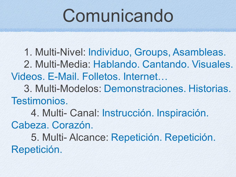 Comunicando 1. Multi-Nivel: Individuo, Groups, Asambleas.