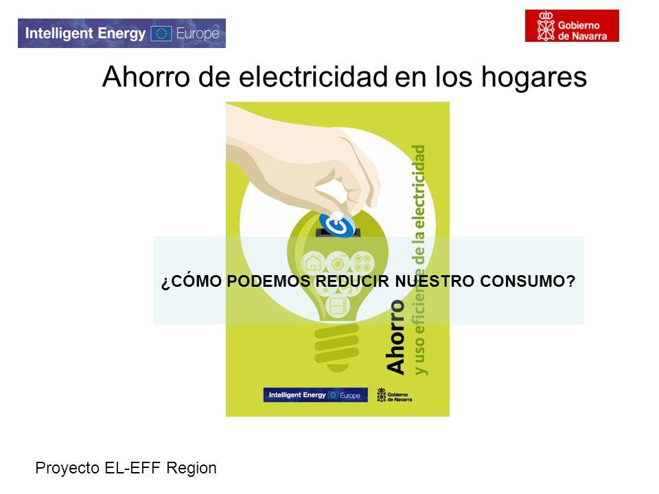 Proyecto EL-EFF Region Ahorro de electricidad en los hogares ¿CÓMO PODEMOS REDUCIR NUESTRO CONSUMO?