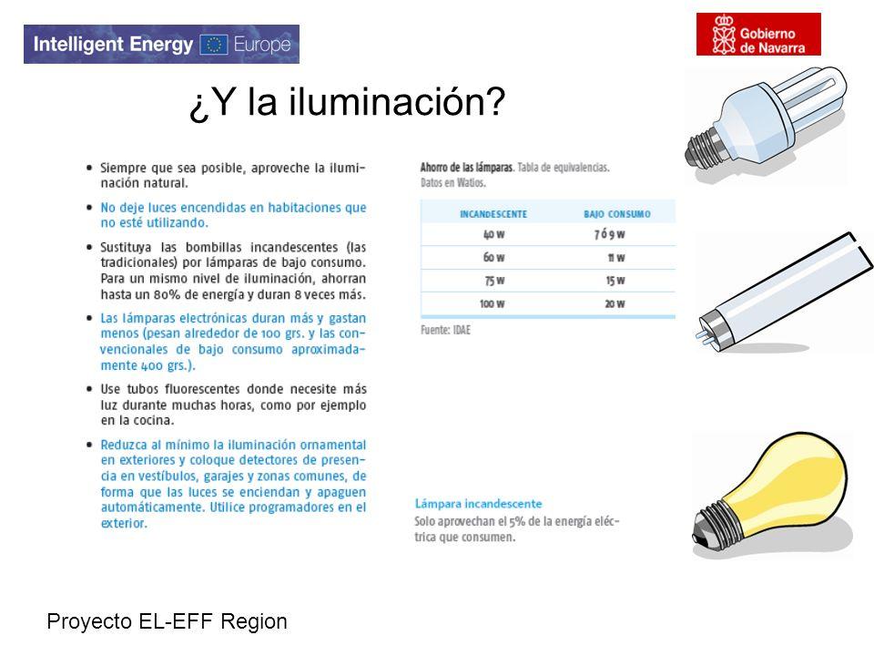 Proyecto EL-EFF Region ¿Y la iluminación?