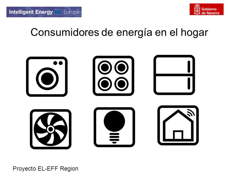 Proyecto EL-EFF Region Consumidores de energía en el hogar