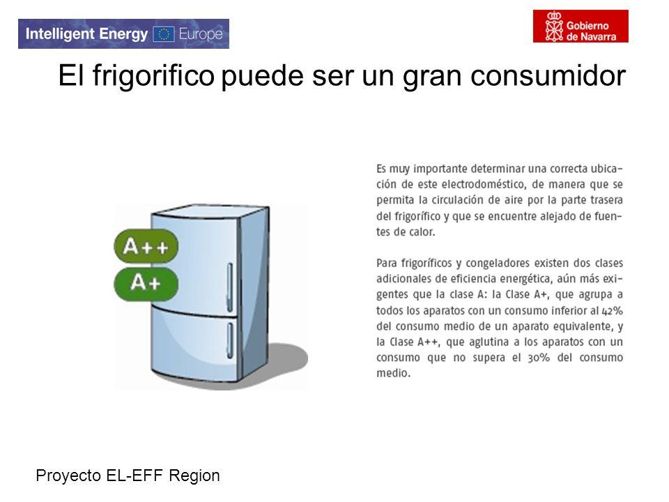 Proyecto EL-EFF Region El frigorifico puede ser un gran consumidor