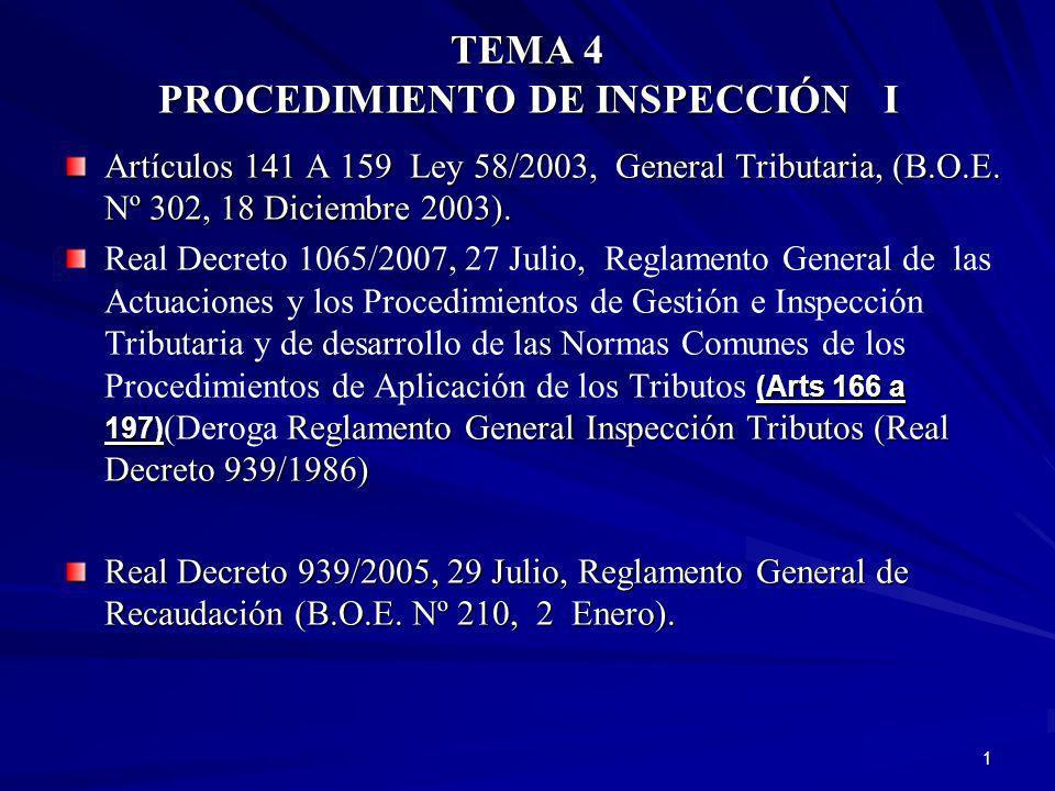 12 DERECHOS Y OBLIGACIONES EN EL PROCEDIMIENTO DE INSPECCIÓN Los derechos corresponden a todos los contribuyentes que tengan la condición de interesados en un procedimiento de inspección
