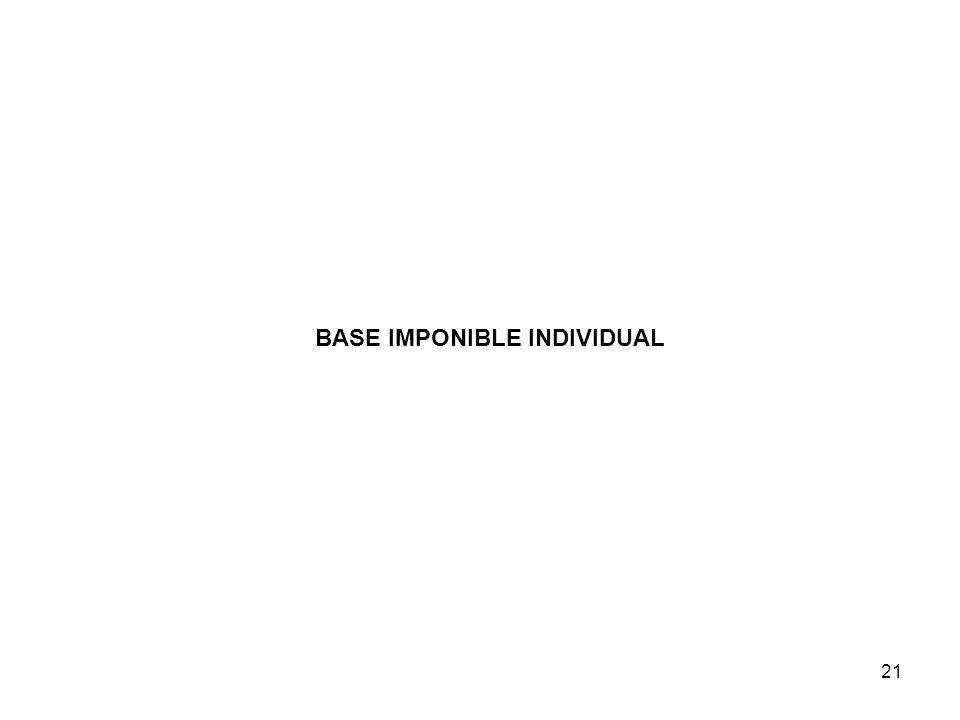 21 BASE IMPONIBLE INDIVIDUAL