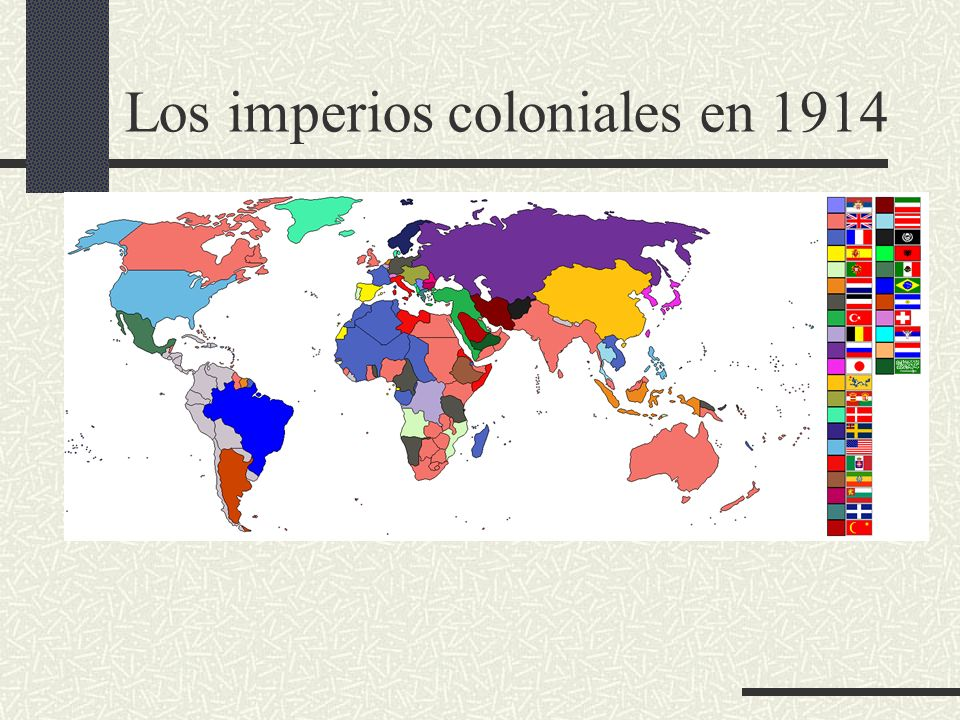 Los imperios coloniales en 1914