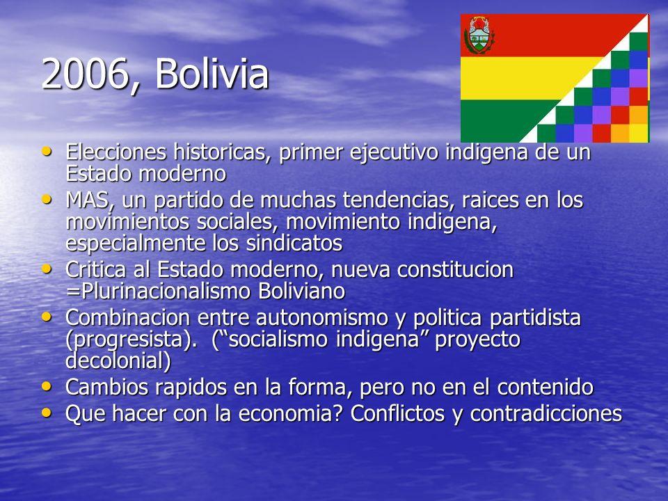 2006, Bolivia Elecciones historicas, primer ejecutivo indigena de un Estado moderno Elecciones historicas, primer ejecutivo indigena de un Estado mode