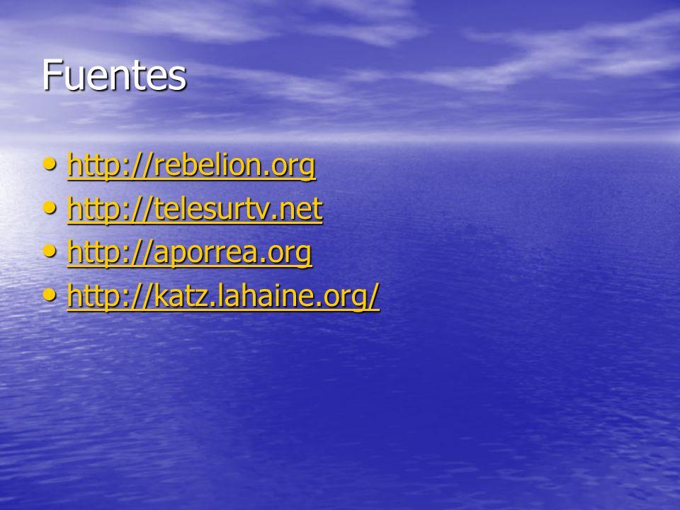 Fuentes http://rebelion.org http://rebelion.org http://rebelion.org http://telesurtv.net http://telesurtv.net http://telesurtv.net http://aporrea.org
