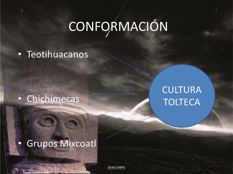 CONFORMACIÓN Teotihuacanos Chichimecas Grupos Mixcoatl CULTURA TOLTECA