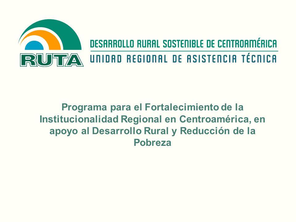 Programa para el Fortalecimiento de la Institucionalidad Regional en Centroamérica, en apoyo al Desarrollo Rural y Reducción de la Pobreza