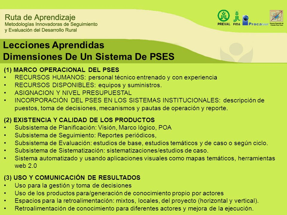 (1) MARCO OPERACIONAL DEL PSES RECURSOS HUMANOS: personal técnico entrenado y con experiencia RECURSOS DISPONIBLES: equipos y suministros. ASIGNACION