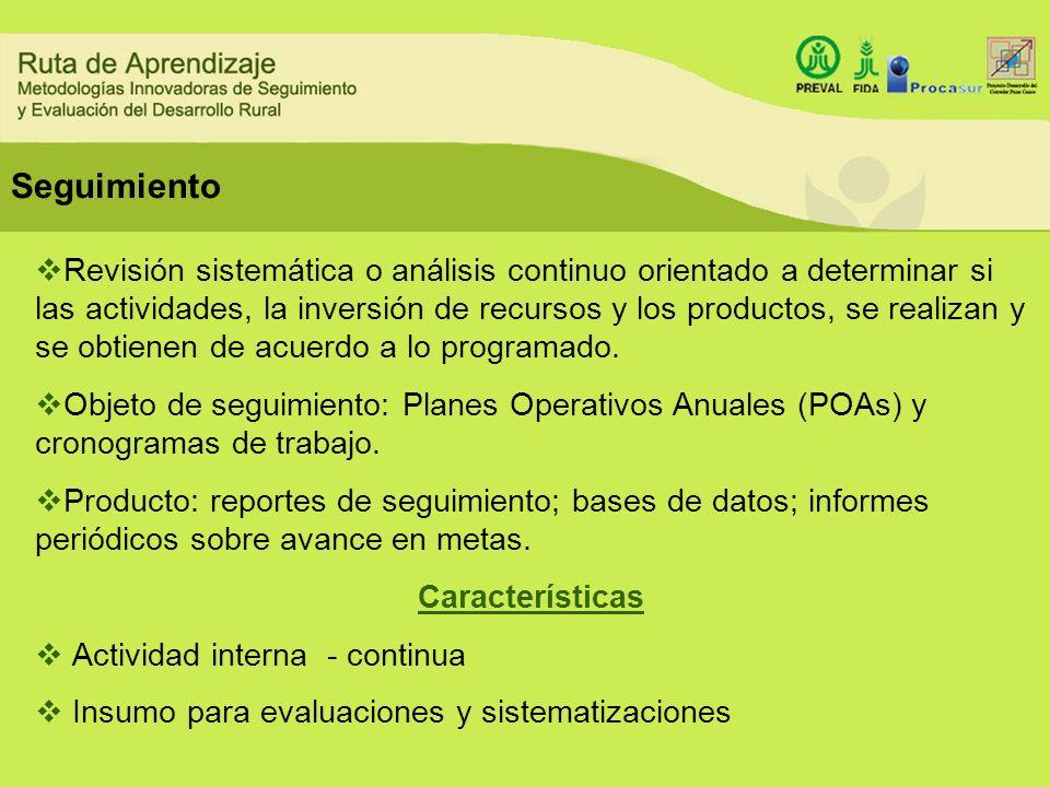 Revisión sistemática o análisis continuo orientado a determinar si las actividades, la inversión de recursos y los productos, se realizan y se obtiene