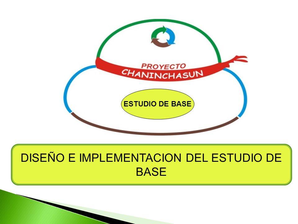 DISEÑO E IMPLEMENTACION DEL ESTUDIO DE BASE ESTUDIO DE BASE