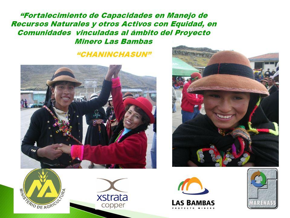Fortalecimiento de Capacidades en Manejo de Recursos Naturales y otros Activos con Equidad, en Comunidades vinculadas al ámbito del Proyecto Minero La
