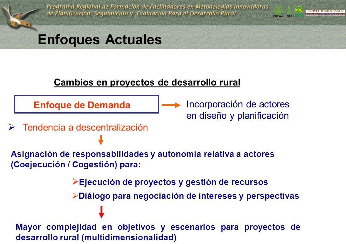 10 Enfoque de Demanda Incorporación de actores en diseño y planificación Tendencia a descentralización Asignación de responsabilidades y autonomía rel