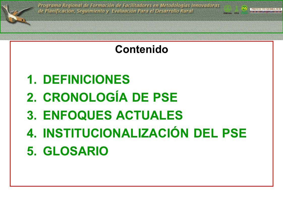 13 ENFOQUES ACTUALES SISTEMAS PSES ORGANIZACIONALES FUNCIÓN DE LA GESTIÓN DE PROYECTOS/PROGRAMAS/POLÍTICAS.