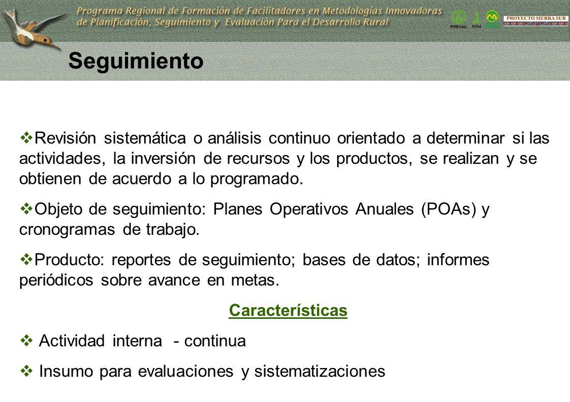 27 Revisión sistemática o análisis continuo orientado a determinar si las actividades, la inversión de recursos y los productos, se realizan y se obti