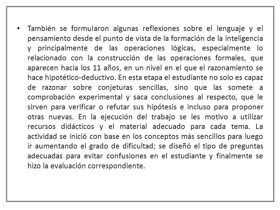 BIBLIOGRAFÍA CARRETERO, Carlos y GARCÍA J.Lecturas de psicología del pensamiento, Madrid, Alianza.