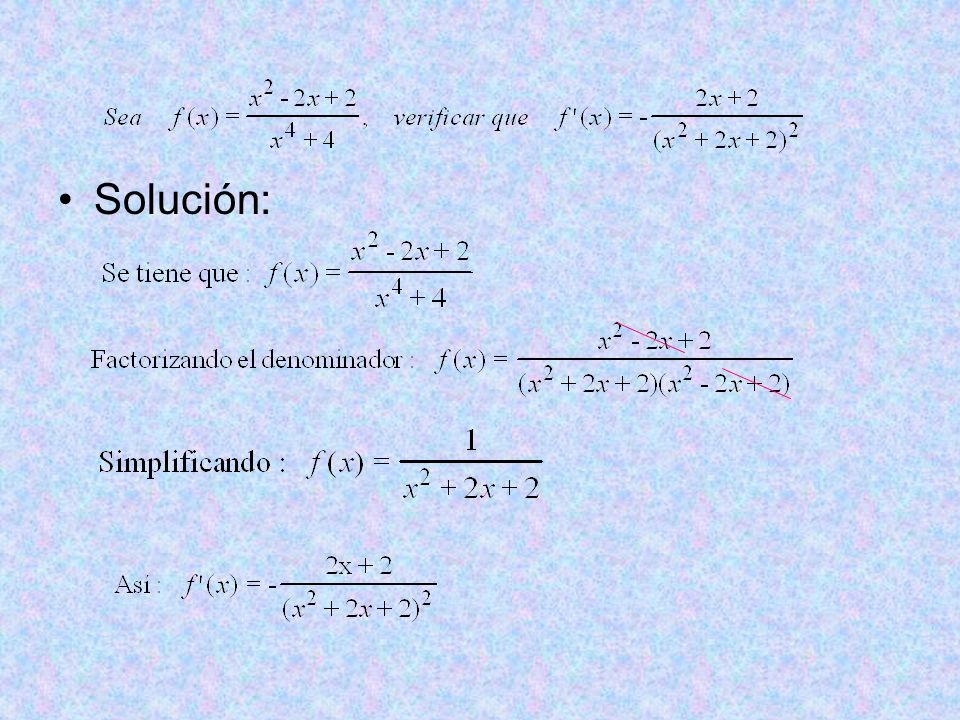 Solución: