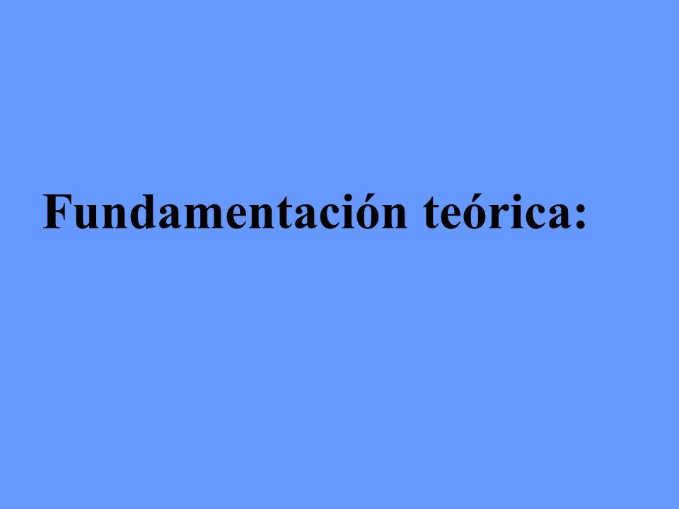 Fundamentación teórica: