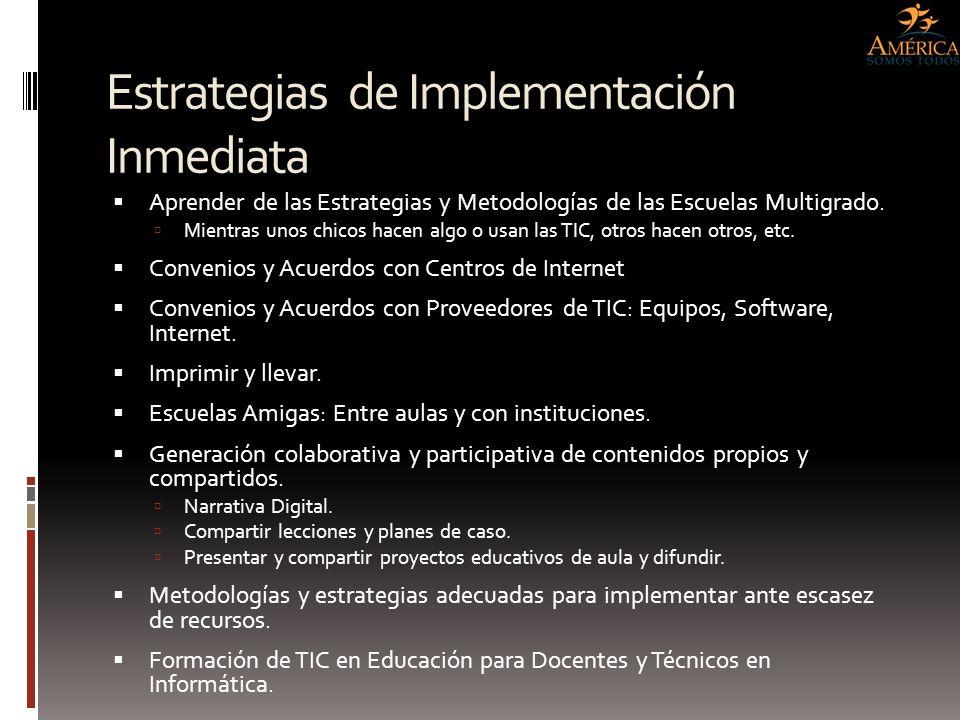 Estrategias de Implementación Inmediata Aprender de las Estrategias y Metodologías de las Escuelas Multigrado. Mientras unos chicos hacen algo o usan