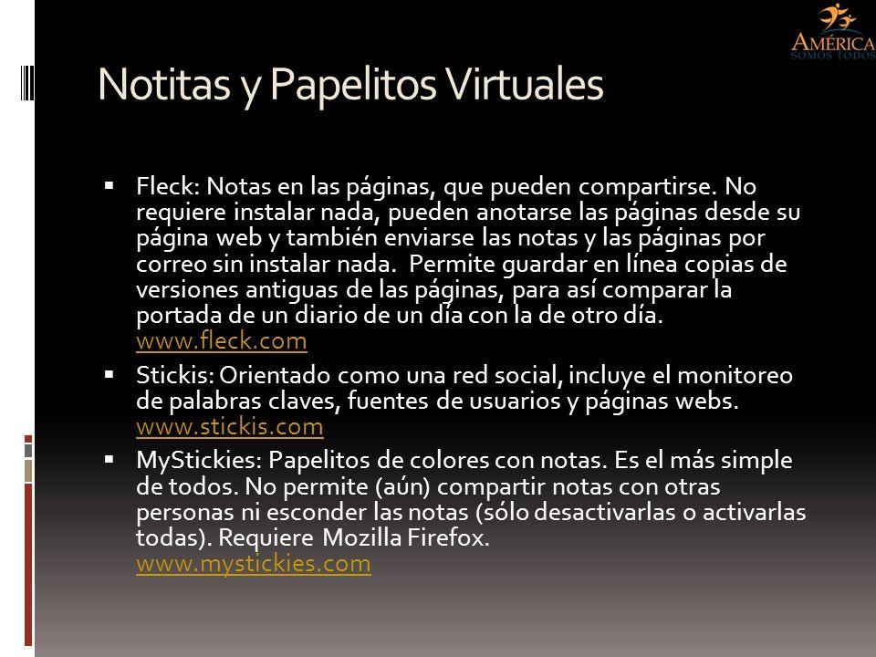 Notitas y Papelitos Virtuales Fleck: Notas en las páginas, que pueden compartirse. No requiere instalar nada, pueden anotarse las páginas desde su pág