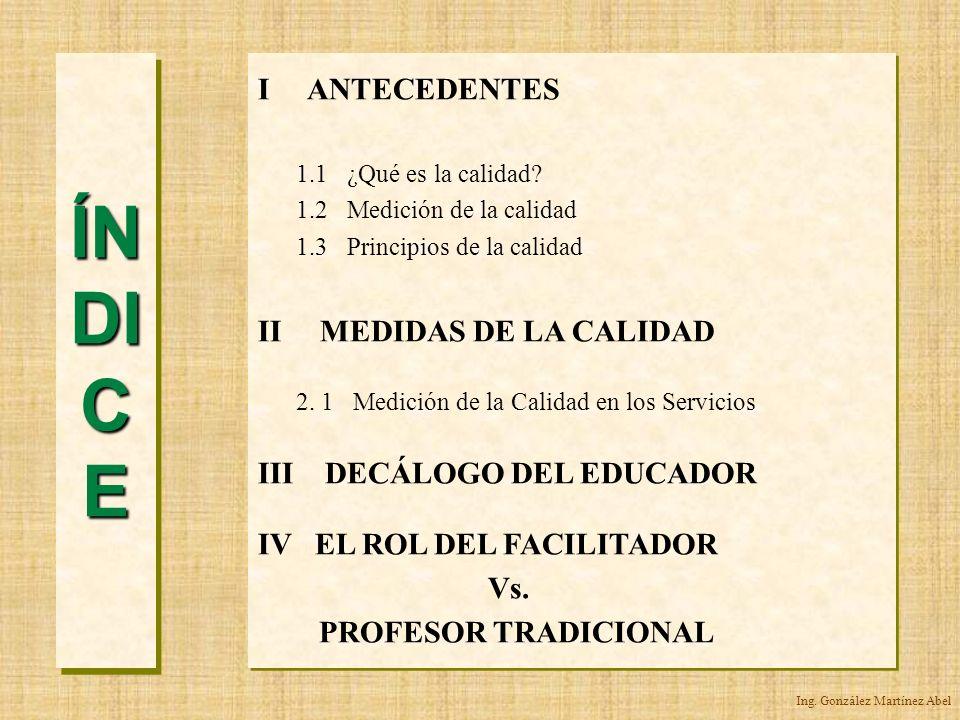 Ing. González Martínez Abel INTRODUCCIÓN Proceso de Calidad GLOBALIZACIÓN
