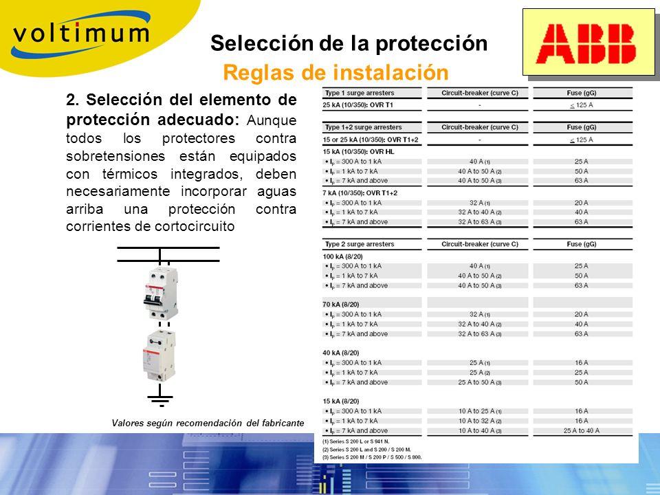 Selección de la protección Reglas de instalación Sistema TT Sistema IT Sistema TN-C Sistema TN-S 1. Identificación de la red: el tipo de descargador y