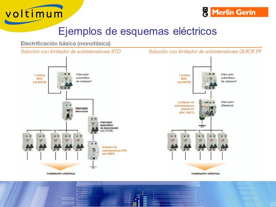 Ejemplos de esquemas eléctricos Protección contra sobretensiones
