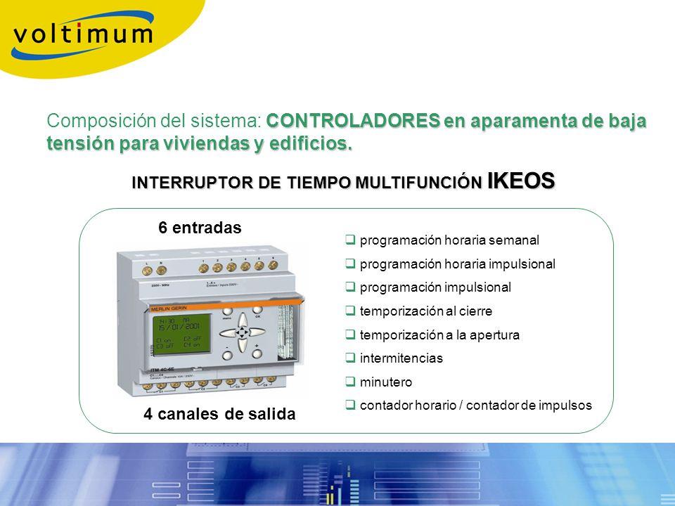 INTERRUPTOR DE TIEMPO MULTIFUNCIÓN IKEOS programación horaria semanal programación horaria impulsional programación impulsional temporización al cierr
