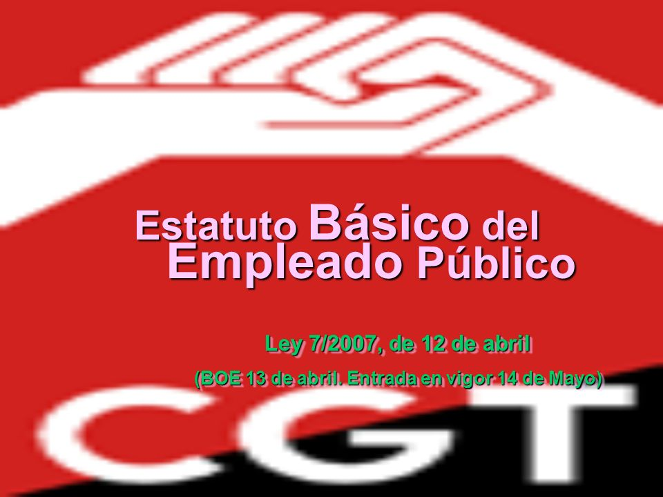 CAPÍTULO I: Derechos de los empleados públicos (art.