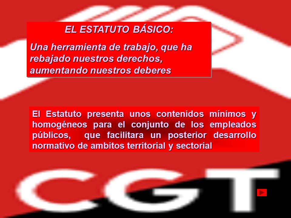 LEGISLACIÓN BÁSICA SITUACIÓN ACTUAL Dispersión legislativa Ley de Funcionarios Civiles de 1964 Ley 30/1984 (sólo algunos art.