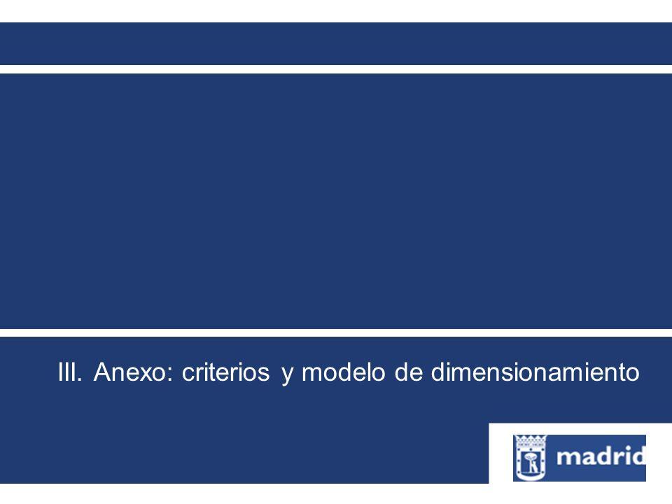 III. Anexo: criterios y modelo de dimensionamiento