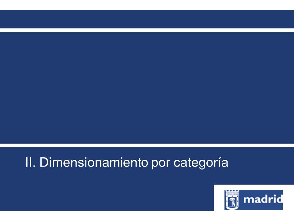 II. Dimensionamiento por categoría