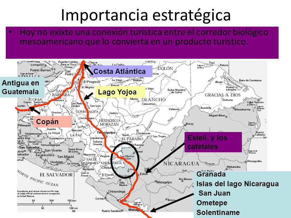 Hoy no exixte una conexión turística entre el corredor biológico mesoamericano que lo convierta en un producto turístico. Granada Islas del lago Nicar