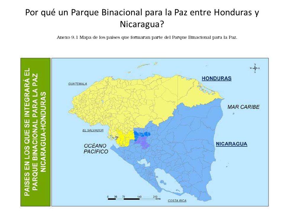 Por qué un Parque Binacional para la Paz entre Honduras y Nicaragua?