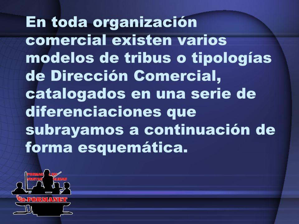 En toda organización comercial existen varios modelos de tribus o tipologías de Dirección Comercial, catalogados en una serie de diferenciaciones que