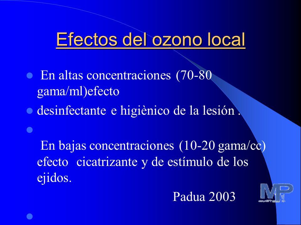 OBJETIVO DEL ESTUDIO El objeto de nuestro estudio ha sido el de evaluar la eficacia de esta cámara localizada modificada Padua 2003