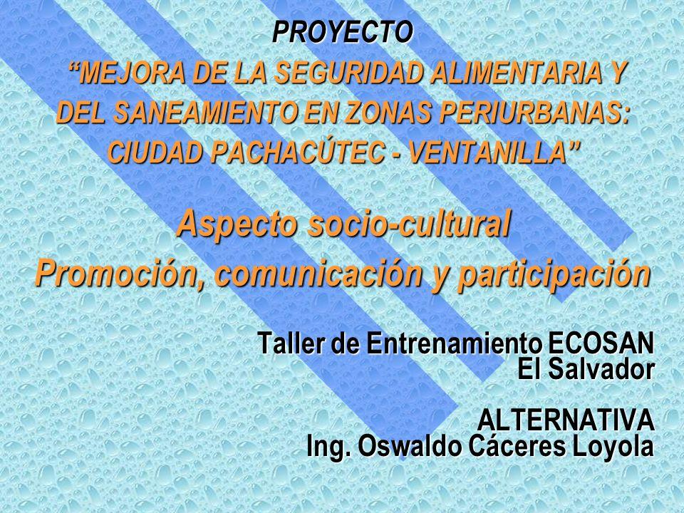 Taller de Entrenamiento ECOSAN El Salvador ALTERNATIVA Ing.