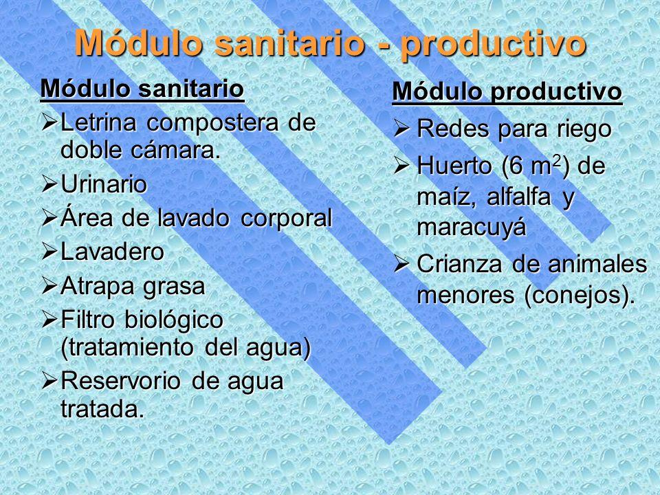 Módulo sanitario - productivo Módulo sanitario Letrina compostera de doble cámara.