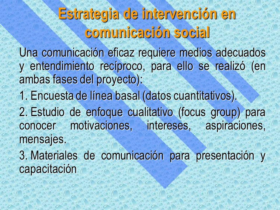 Una comunicación eficaz requiere medios adecuados y entendimiento recíproco, para ello se realizó (en ambas fases del proyecto): 1.