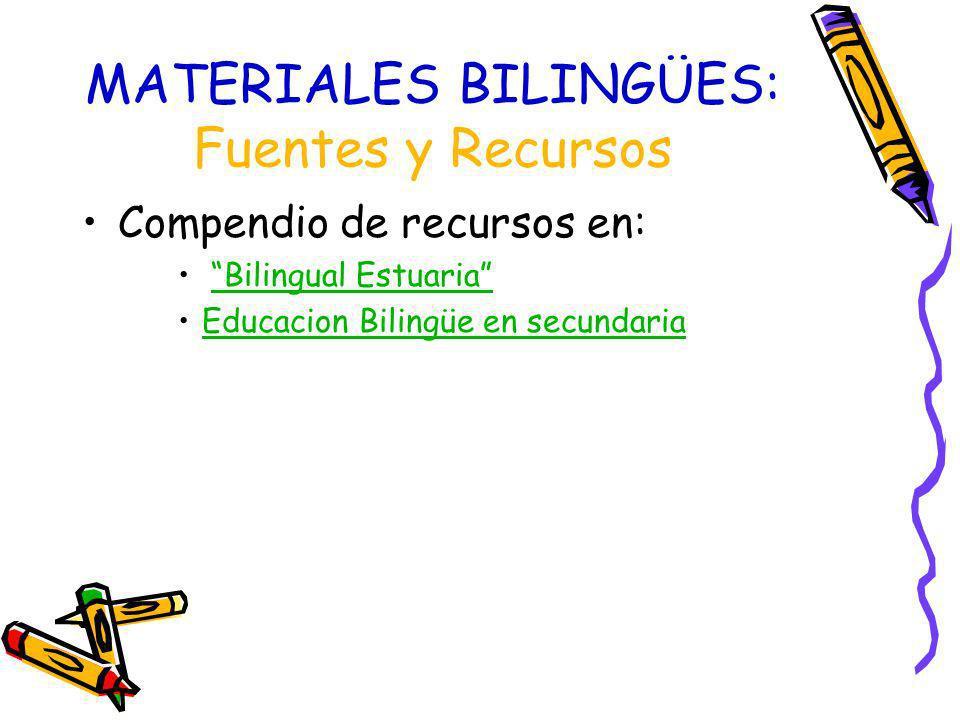 Planificación del material Guías institucionales (Junta): –Orientaciones DNLs –Orientaciones prof.