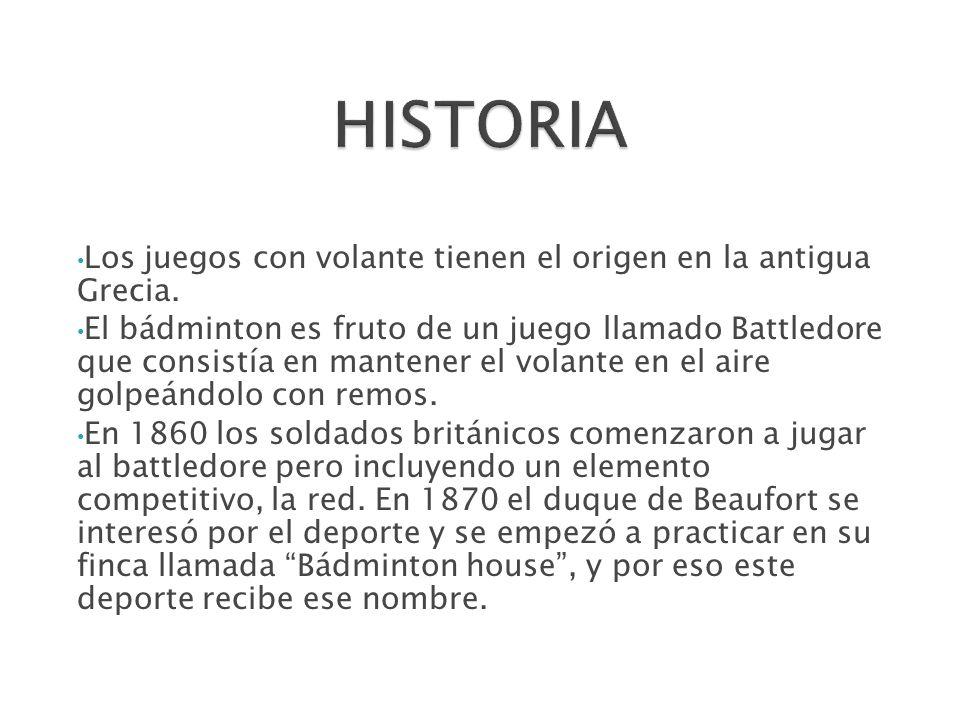 En 1877 el primer club del mundo de bádminton creó las reglas de este deporte.