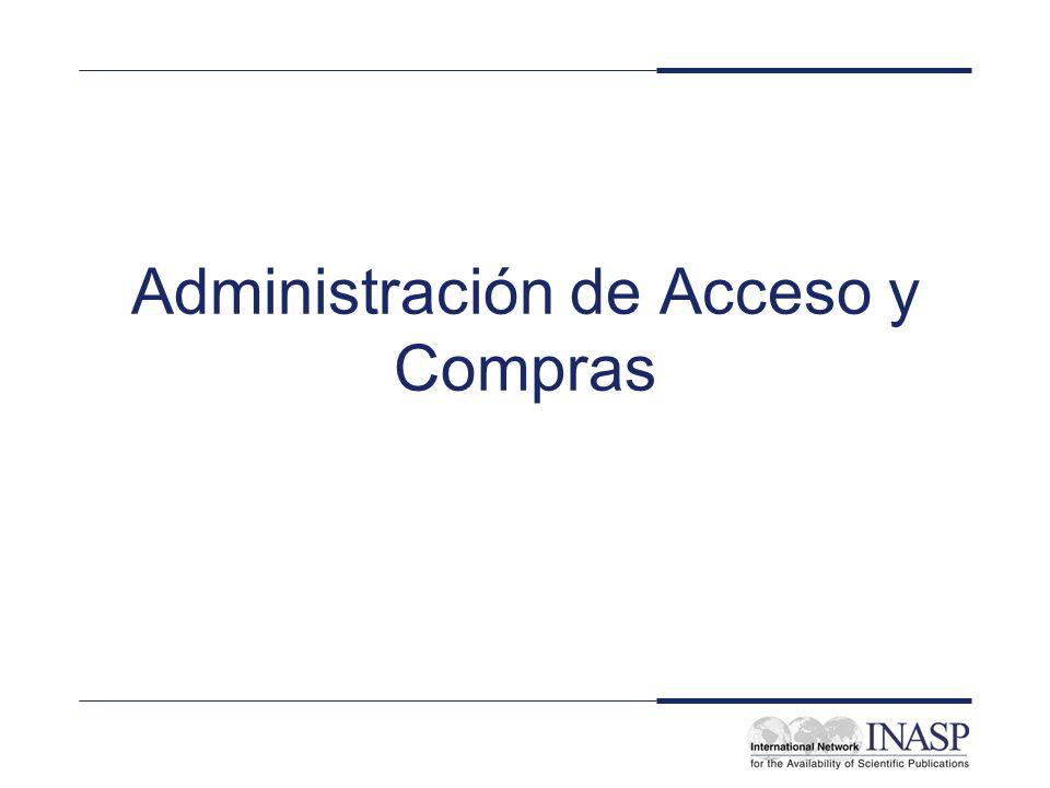 Administración de Acceso y Compras