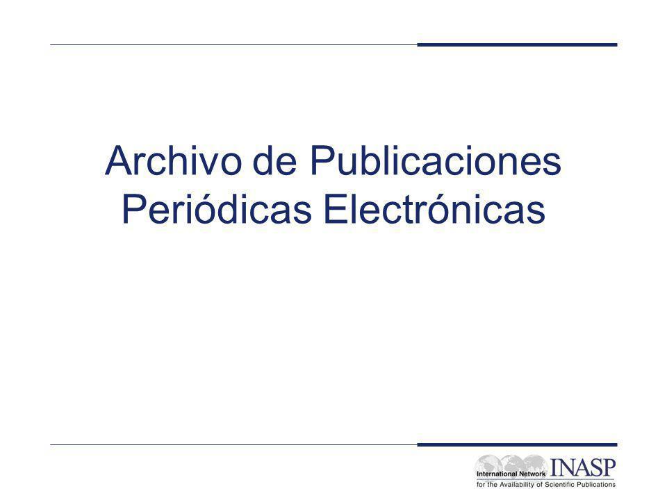 Objetivos y pretensiones Obtener una idea de los retos que implica el archivo de publicaciones periódicas electrónicas Considerar quién puede asumir responsabilidad por tal archivo Esbozar algunos de los proyectos para la creación de archivos de publicaciones periódicas electrónicas