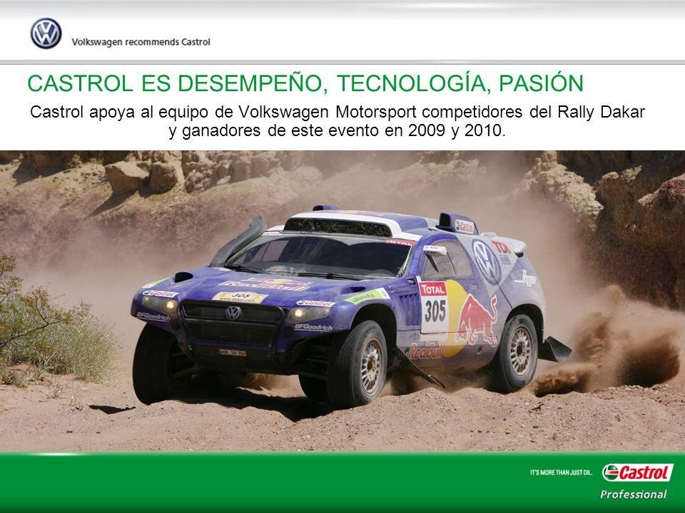 11 CASTROL ES DESEMPEÑO, TECNOLOGÍA, PASIÓN Castrol apoya al equipo de Volkswagen Motorsport competidores del Rally Dakar y ganadores de este evento e