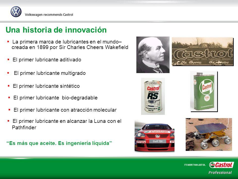 5 Una historia de innovación La primera marca de lubricantes en el mundo– creada en 1899 por Sir Charles Cheers Wakefield El primer lubricante aditiva