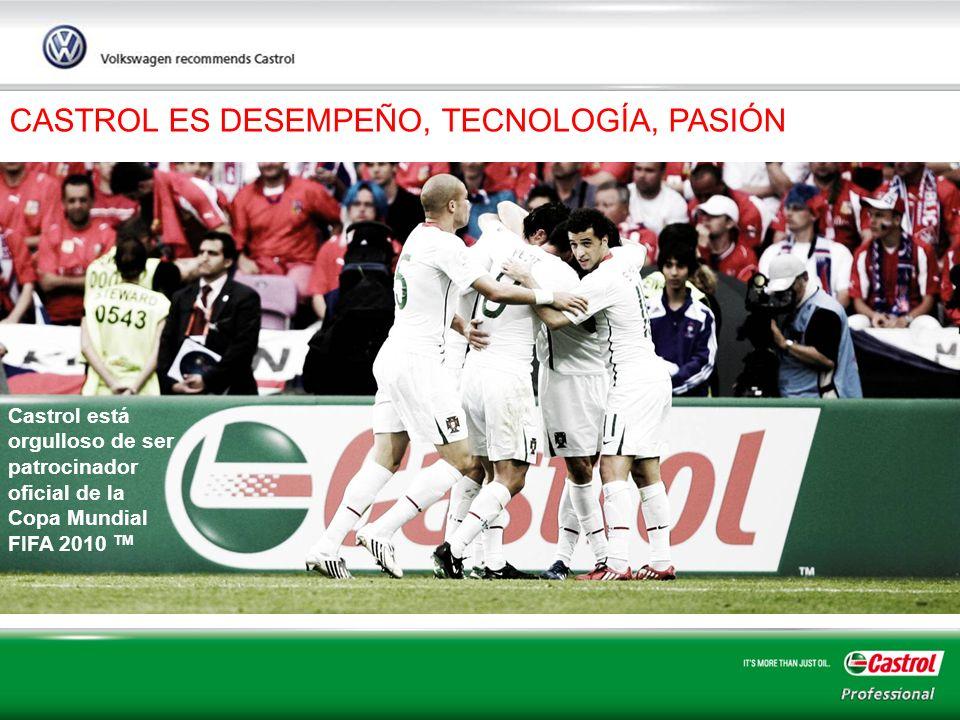 6 CASTROL ES DESEMPEÑO, TECNOLOGÍA, PASIÓN Castrol está orgulloso de ser patrocinador oficial de la Copa Mundial FIFA 2010 TM