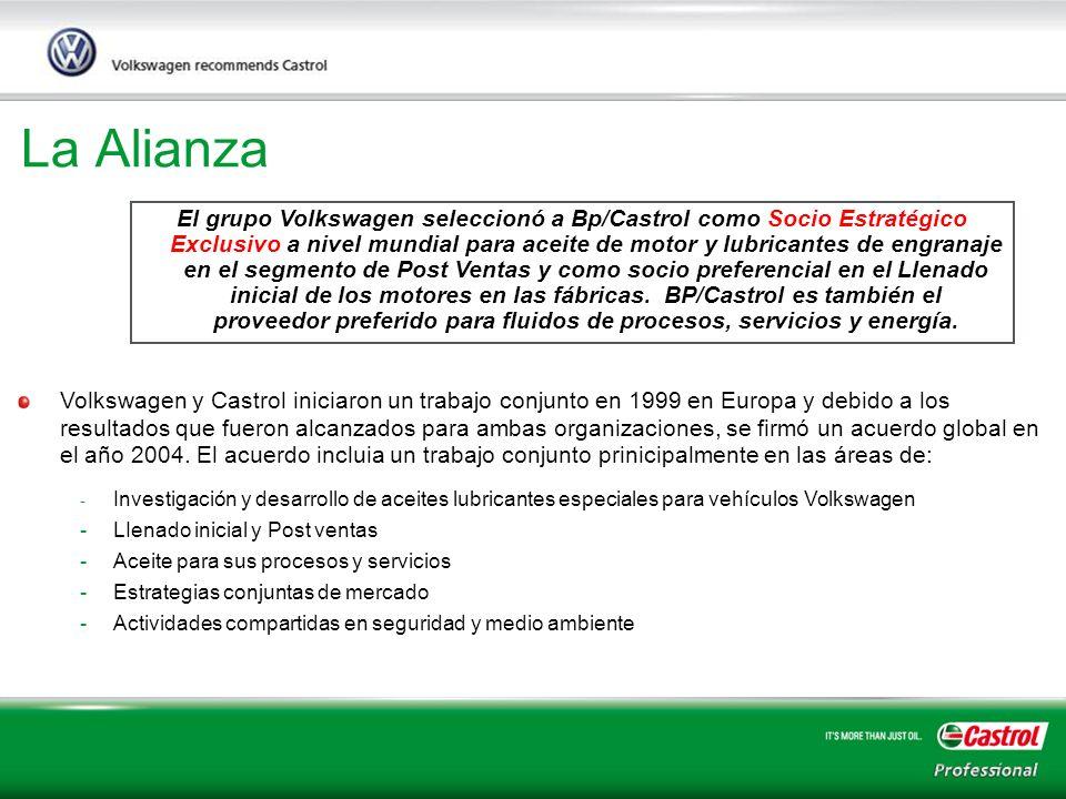 7 La Alianza El grupo Volkswagen seleccionó a Bp/Castrol como Socio Estratégico Exclusivo a nivel mundial para aceite de motor y lubricantes de engran