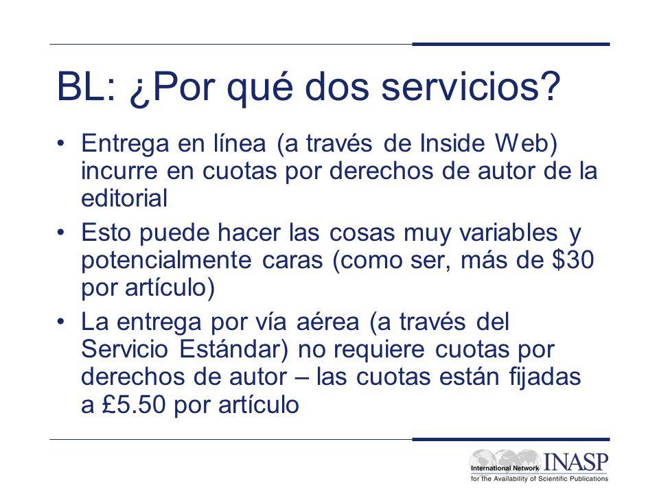 BL: ¿Por qué dos servicios.